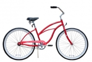 Beach Cruiser Bicycle Woman 26 Firmstrong Urban Lady single speed (1sp) - red
