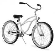 Women's Urban Lady 24 Beach Cruiser Bike Color: White