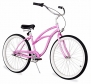 Firmstrong Urban Lady Three Speed Beach Cruiser Bicycle, Pink, 13.5 inch / Medium