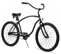 Firmstrong Chief Man Single Speed Beach Cruiser Bicycle, 26-Inch, Matte Black
