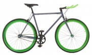 Vilano Edge Fixed Gear Single Speed Bike, Small, Grey/Green